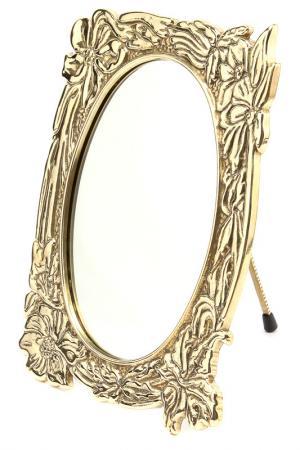 Зеркало Весна, 15х20 см Stilars. Цвет: золотой