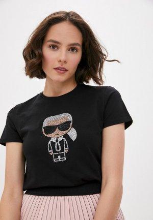 Футболка Karl Lagerfeld. Цвет: черный