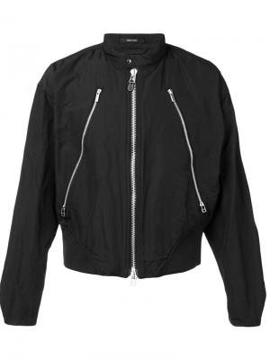 Куртка с молниями Issey Miyake. Цвет: чёрный