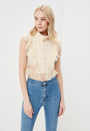 Блуза Glamorous. Цвет: бежевый