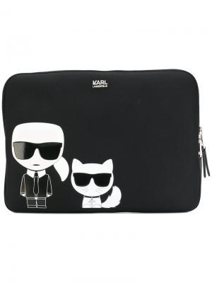 Чехол для ноутбука Ikonik Karl Lagerfeld. Цвет: чёрный