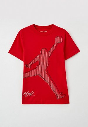 Футболка Jordan. Цвет: красный