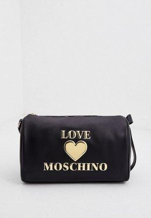 Сумка дорожная Love Moschino. Цвет: черный