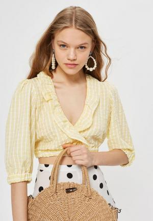 Блуза Topshop. Цвет: желтый