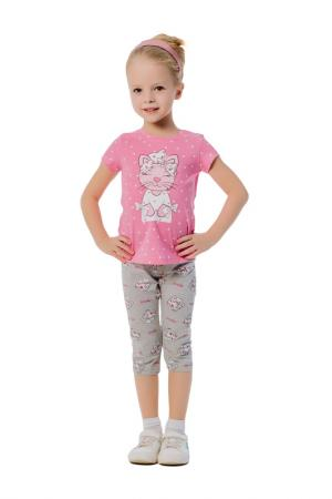 Костюм - футболка, бриджи BATIK. Цвет: розовый