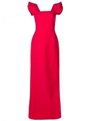 Платье с квадратным вырезом Antonio Berardi. Цвет: розовый и фиолетовый