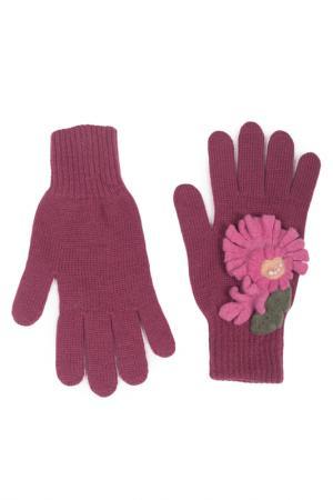 Перчатки LAK MISS. Цвет: брусничный