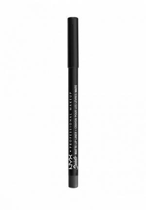 Карандаш для губ Nyx Professional Makeup. Цвет: серый