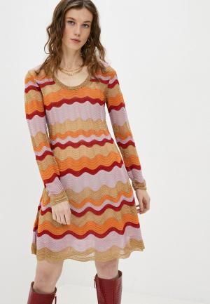 Платье Missoni. Цвет: разноцветный