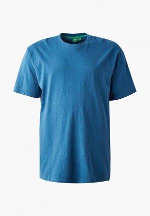 Футболка D555. Цвет: синий