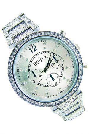 Часы с футляром BORA. Цвет: серебристый