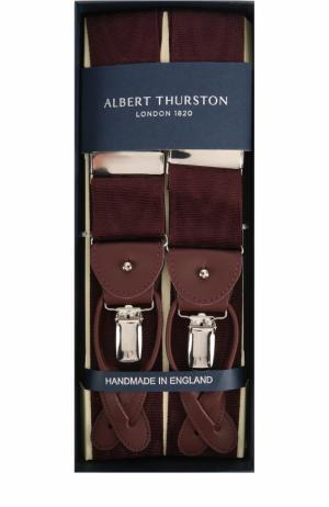 Подтяжки с кожаной отделкой Albert Thurston. Цвет: бордовый