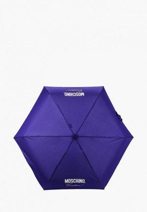 Зонт складной Moschino. Цвет: фиолетовый