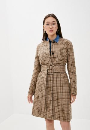 Пальто By Malene Birger. Цвет: бежевый