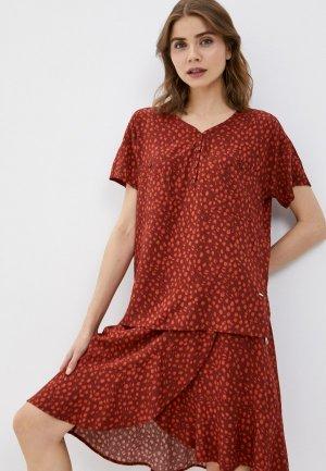 Блуза Luhta. Цвет: бордовый