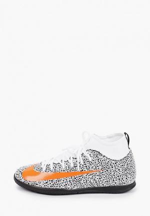Бутсы зальные Nike. Цвет: белый