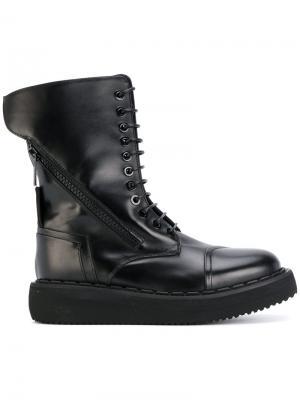 Высокие ботинки на шнуровке Bruno Bordese. Цвет: чёрный