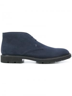 Ботинки-дезерты Tods Tod's. Цвет: синий