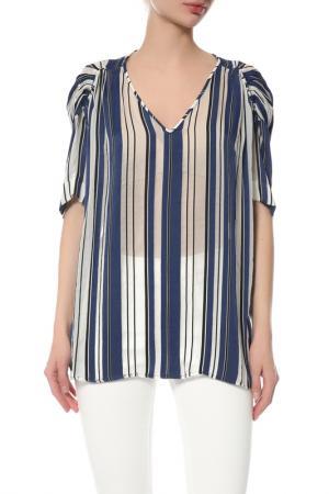 Блуза Galliano. Цвет: синий