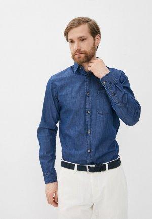 Рубашка джинсовая Produkt. Цвет: синий