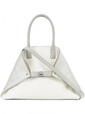 Маленькая сумка-тоут Ai Akris. Цвет: серый