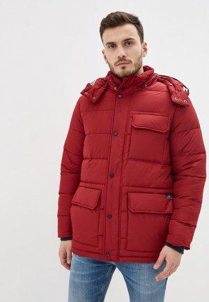 Куртка утепленная Izod. Цвет: бордовый