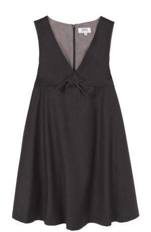 Платье с завышенной талией и бантом Aletta. Цвет: темно-серый