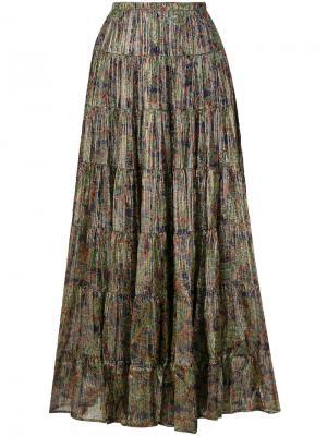 Плиссированная юбка с цветочным принтом Mes Demoiselles. Цвет: многоцветный