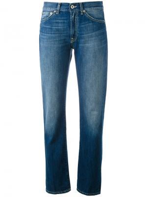 Зауженные джинсы с подвернутыми манжетами Dondup. Цвет: синий