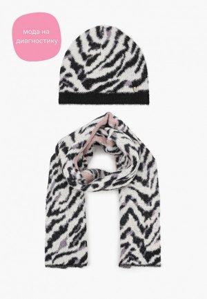 Шапка и шарф Liu Jo. Цвет: разноцветный