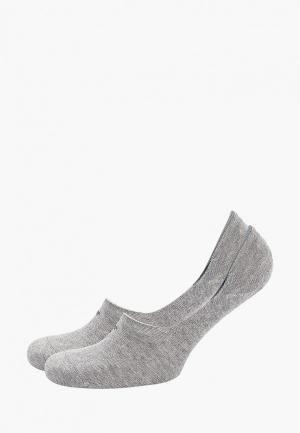 Носки 2 пары Tom Tailor. Цвет: серый