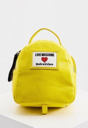 Рюкзак Love Moschino. Цвет: желтый