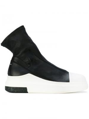 Кроссовки с носочной вставкой Cinzia Araia. Цвет: чёрный