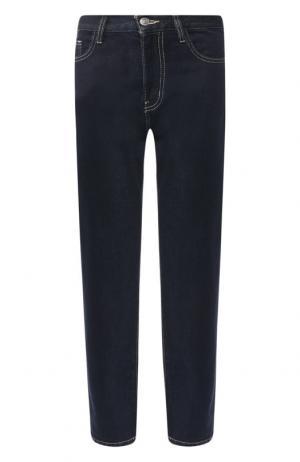 Укороченные джинсы с контрастной прострочкой Current/Elliott. Цвет: синий