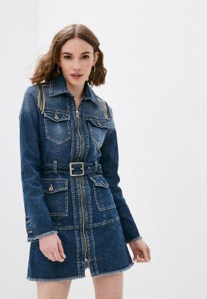 Платье джинсовое Please. Цвет: синий