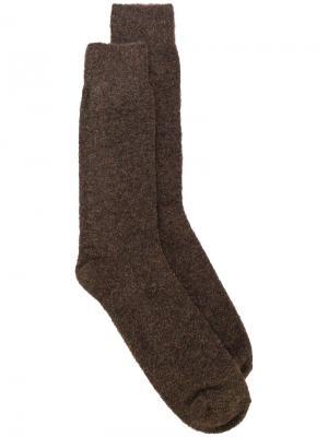 Классические носки Howlin Howlin'. Цвет: коричневый