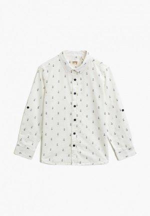 Рубашка Koton. Цвет: белый