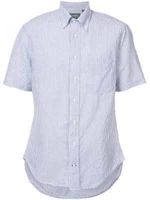 Полосатая рубашка на пуговицах Gitman Vintage. Цвет: синий