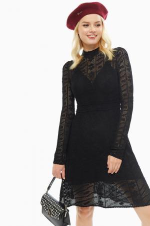 Платье MISS SIXTY. Цвет: черный