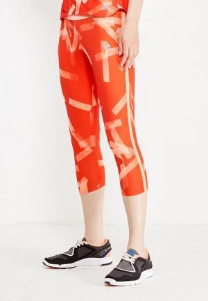Тайтсы adidas. Цвет: оранжевый