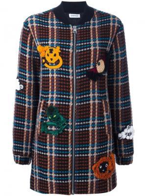Клетчатая куртка-бомбер Au Jour Le. Цвет: многоцветный