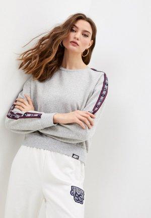 Свитшот Juicy Couture. Цвет: серый