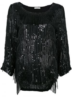 Блузка с пайетками Mes Demoiselles. Цвет: чёрный