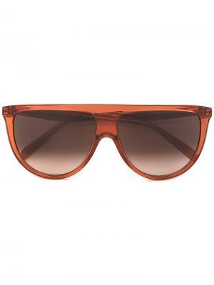 Солнцезащитные очки с квадратной оправой Céline Eyewear. Цвет: розовый и фиолетовый