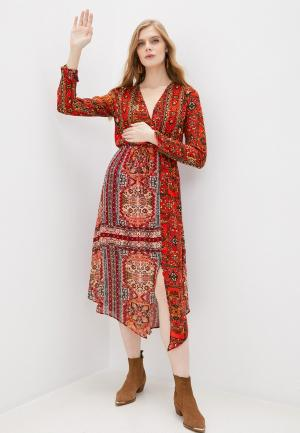 Платье Desigual. Цвет: красный