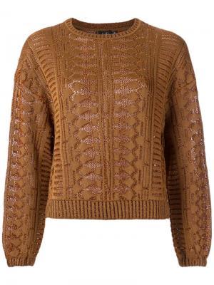 Knitted blouse Gig. Цвет: коричневый