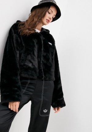 Шуба adidas Originals. Цвет: черный