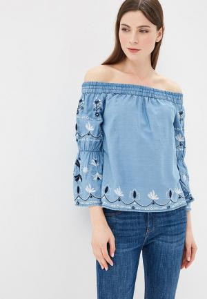 Блуза Pepe Jeans. Цвет: голубой