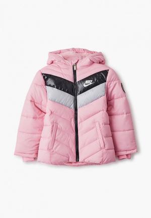Куртка утепленная Nike. Цвет: розовый