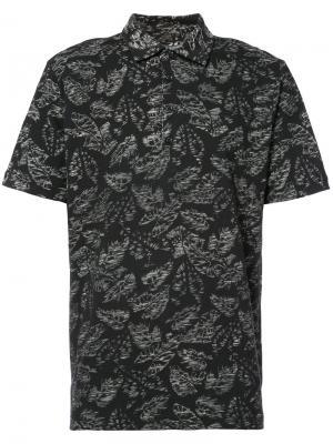 Рубашка с рисунком из листьев Michael Bastian. Цвет: чёрный